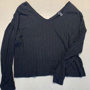 F21 Black Long Sleeve Top